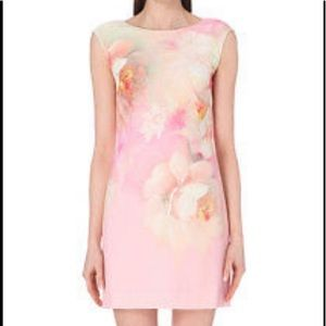 TED BAKER Damona Rose On Canvas Dress TED 3 US 6-8